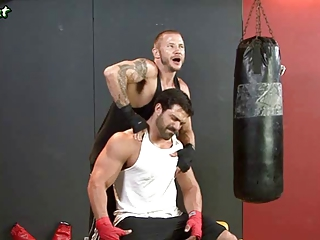 two gay boxers tasting their asshol