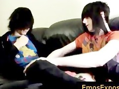 two queer goth twinks piercing on the berth part2