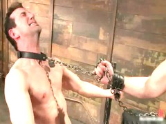 james dirk in enormously extreme gay bondage gay