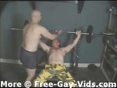 two muscleheads gang bang strong and deepthroat