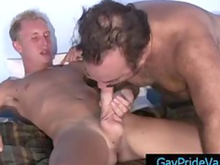 albino twink obtaining his cock sucked by granny