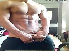 muscle boy posing fresh