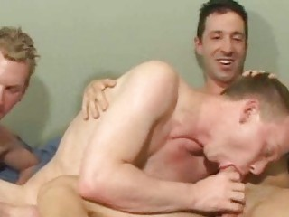 uninhibited brunette gay adam licking an massive