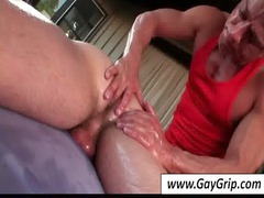 gay takes large libido and ass massaged