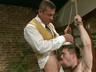 shaggy gay stud had roughly banged