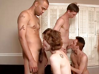 a insane gay bareback and cumshots celebration