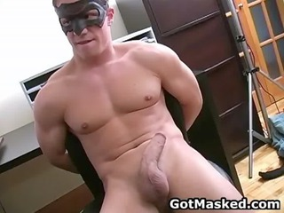 hunky gay man stripping and jerking gay porno