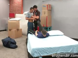 awesome horny gay three people sex part2