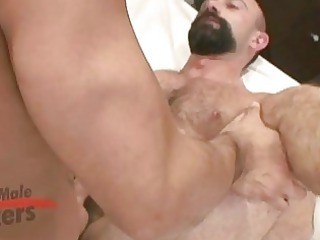 hot beared older  gay stud gets roughly banged