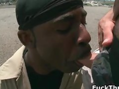 clean dude gets dick sucked by black part2