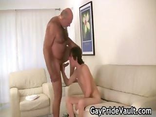 slutty gay bear fucking and licking