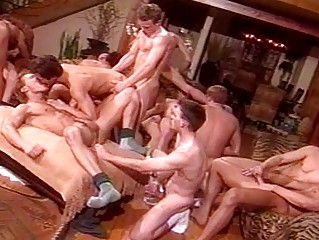 gay studs having a bunch  porn