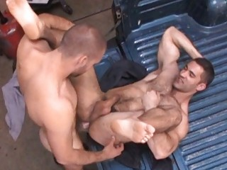 filthy gay stud had his rough furry anal fucked