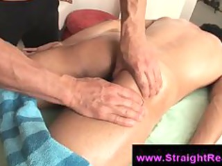 straight male arse licked by gay guy on massage