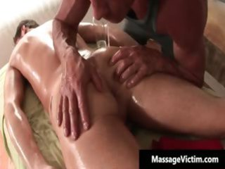 nasty fresh gay guy acquires a massage part1