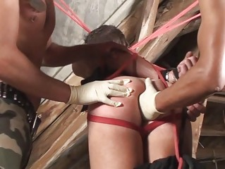 turned on gay hunk acquires his butt fisted and