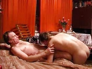 cougar and inexperienced gays boning and licking