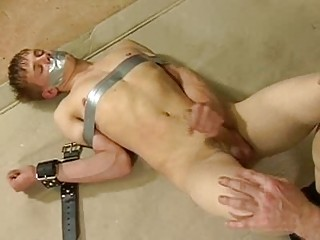 slim fucker bound and teased by gay boy
