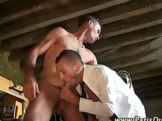 muscular gay frenchie sucked off