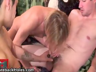 slutty gay bareback drilling and cock part1