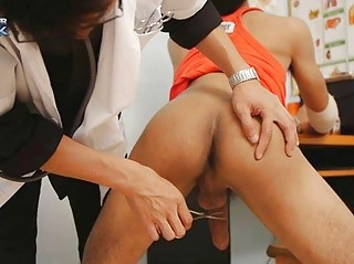 the fellatio therapy of slutty gay nurse