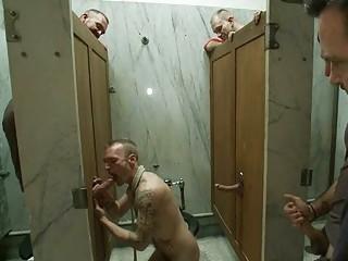 fat gay hunk had molested inside outside toilet
