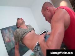 awesome and slutty dude acquires the massage gay