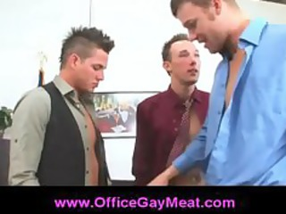 bussiness meeting in an bureau becomes sleazy gay