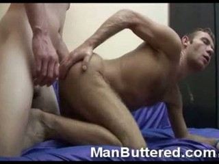 inexperienced gay pair cums inside mug - must