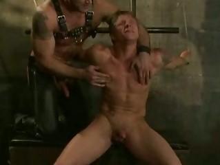 athletic gay handsomes licking bondage