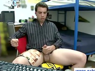 friend jerking his cock