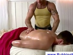 sensual massage turns in a rimjob