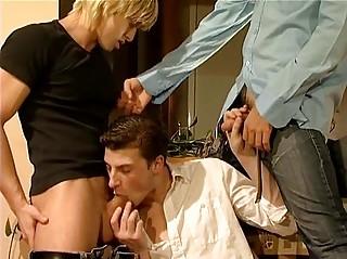 triple super gay men having triple porn act
