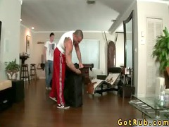 tattooed hunk takes anus packed gay video