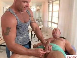 tatooed fucker getting shocking handjob part5