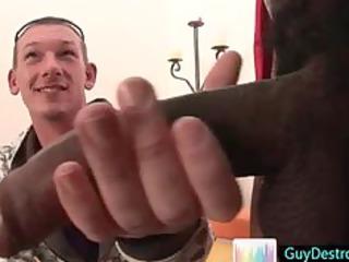 kieron jerking some great black gay penis by