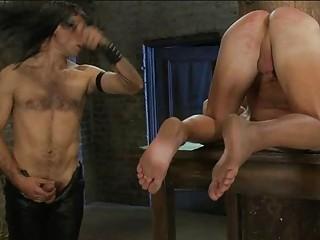 thin gay fucker had whipped and bondaged inside