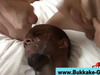 gay bukkake bunch  butt drill and facial