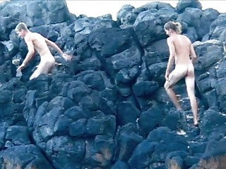 hot looking gay fuckers screwing on the shore