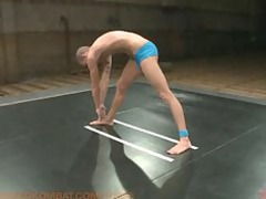 two hot studs give their all in a fight for