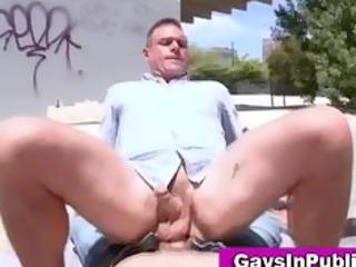gay boys gang bang outside in daylight