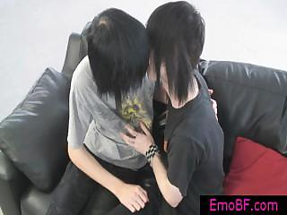 gay emo twinks making out on a armchair by emobf
