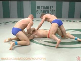 gay porn wrestling  live audience!