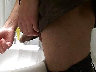 gay stud acquires caught pissing inside the al