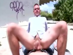 fresh open-air twink acquires a cumshot