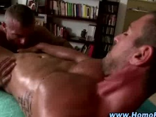 gay copulates and licks straight cock